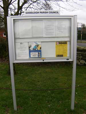Parish council noticeboard